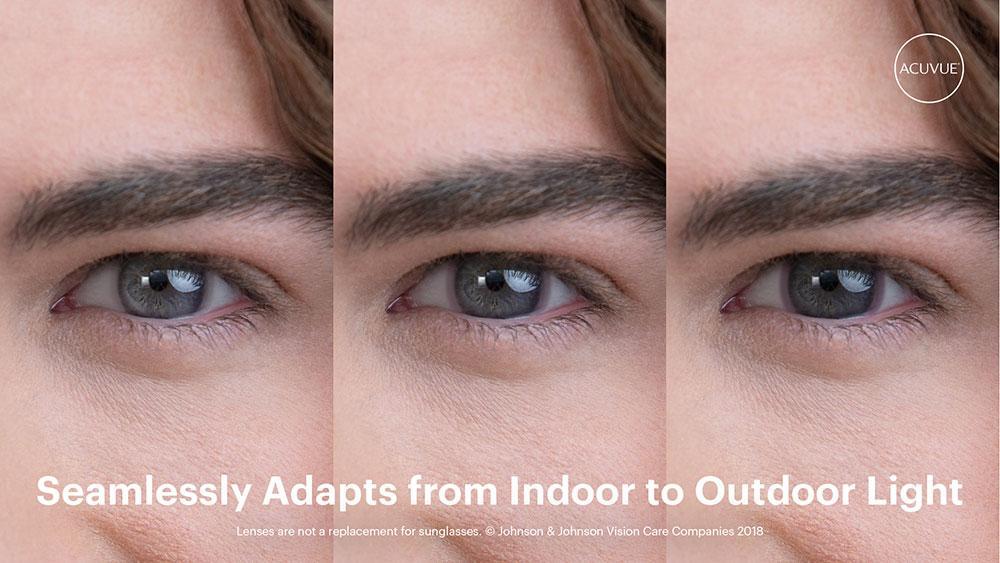 Las primeras lentes de contacto que se oscurecen con la luz brillante del sol, ¿cómo se verán en tus ojos?